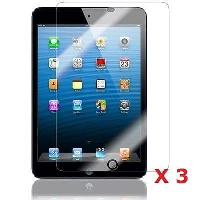 "3 x Clear LCD Screen Protector Gurad For Apple iPad Mini 7.9"" Inch + Free Cloth"