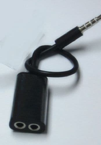 3.5mm Audio Cable 1 Male to 2 Female Splitter Adapter Earphone for Apple iPhone