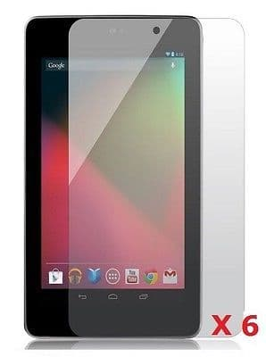 6 X Google NEXUS 7'' inch LCD Screen Protector Guard Cover + Free Cloth