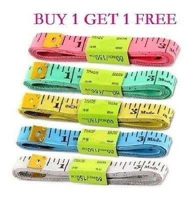 """60""""inch/150cm Soft Ruler Tape Measure DIY colourful Gift Home"""