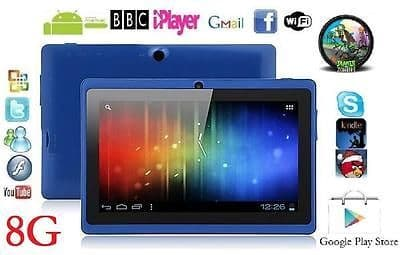 "7"" INCH BLUE DUAL CORE CAMERA ANDROID 4.4 TABLET Allwinner A23 NETBOOK 8G GIFT"