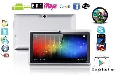 "7"" INCH WHITE DUAL CAMERA ANDROID 4.0.4 TABLET PC Allwinner A13 NETBOOK 4G GIFT"