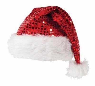 ADULT/Kid DELUXE SEQUIN CHRISTMAS PARTY SANTA HAT