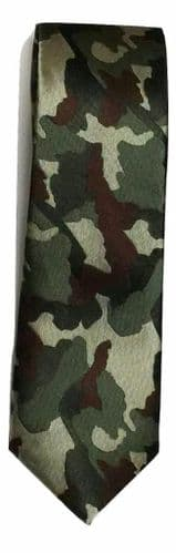 Army Miitary Camouflage camo mens wedding event prom party plain necktie tie