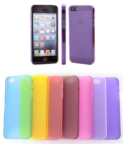 Crystal Clear Ultra Thin Back Case Cover for APPLE iPHONE 5 Free Screen Guard