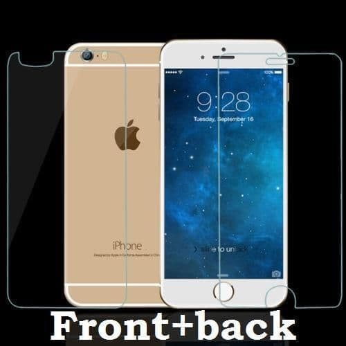 GENUINE FRONT & BACK SCREEN PROTECTOR TEMPERED GLASS FOR APPLE IPHONE 6 PLUS