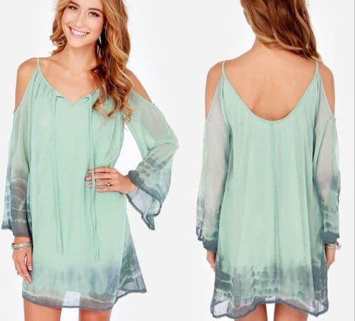 Sexy Ladies Off Shoulder V neck Mini Dress Loose Long Blouse Tops Shirt