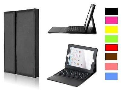 Smart Leather Case Cover with Bluetooth Wireless Keyboard for iPad2 3 4 UK Gift