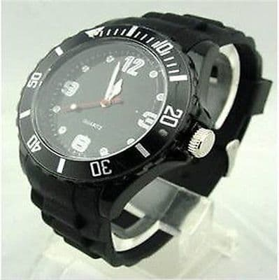 STYLE UNISEX SILICONE RUBBER JELLY WRIST WATCH WITH DATE FOR BOY GIRL Xmas GIFT