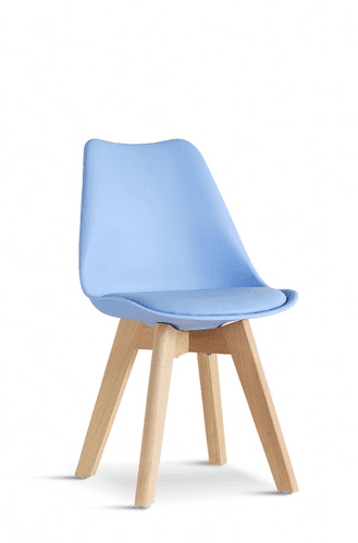 2x Blue Tulip Pyramid Child's Chairs With Beech Legs