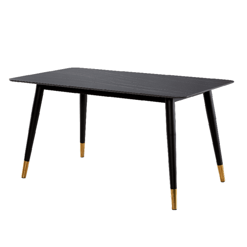 Alexander Marble Dining Table Black 130x80