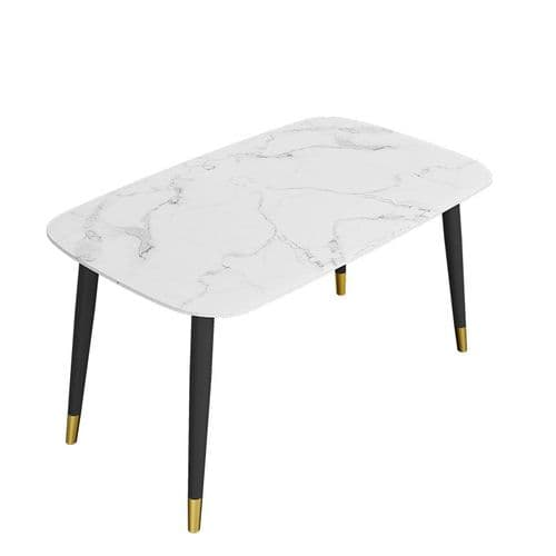 Alexander  Marble Dining table White 130x80