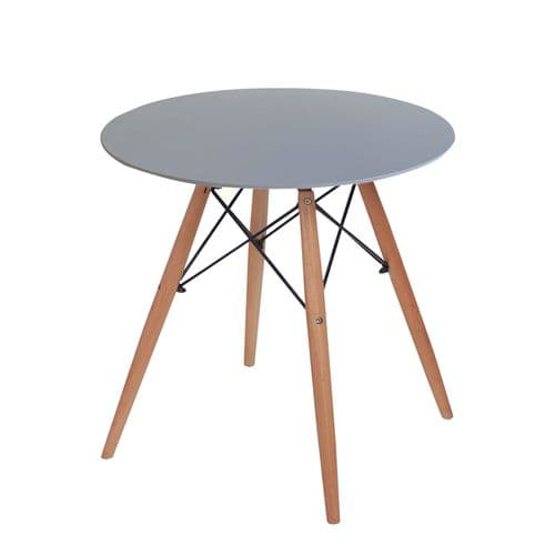 Eiffle Round Dining Table in Grey - 4 Seater - 80cm