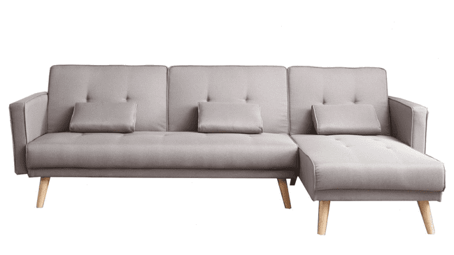 Mmilo  - Two Pieces Open End Corner Sofa Bed  in Grey