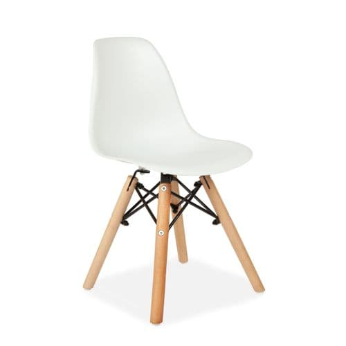 Set of Two Child's Eiffel Style Plastic Chair, White