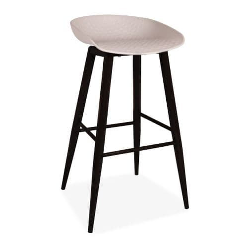 x2 About a Stool, Grey Barstool with Black Metal Legs