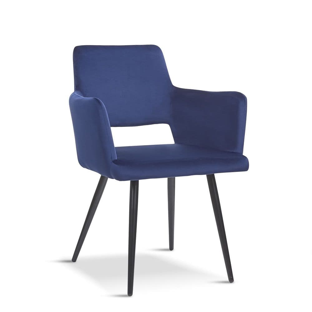 x2 Deep Blue Velvet Harrod Chair