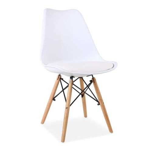 x2 Tulip Dining Chairs, White