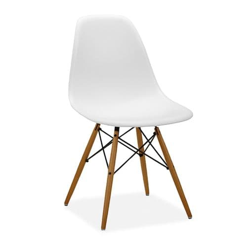 x4 Eiffel Style Plastic Dining Chair, White