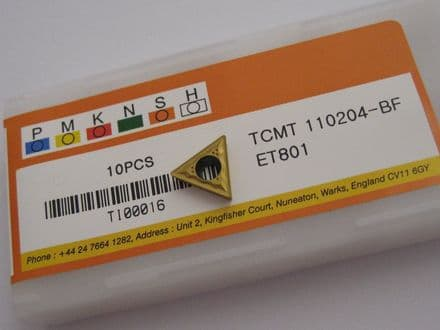 TCMT110204-BF ET801 TCMT SOLID CARBIDE TURNING INSERTS EUROPA TOOL