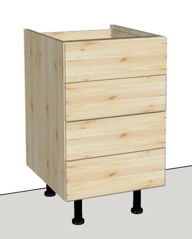Pine 4 Drawer Kitchen Cabinet 500mm wide