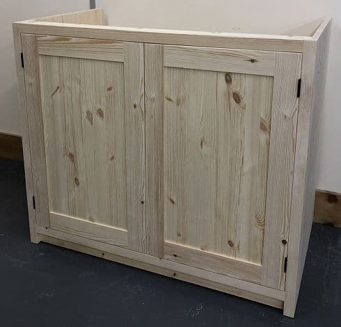 Pine Traditional Style 2 Door Kitchen Base Unit 1000mm wide