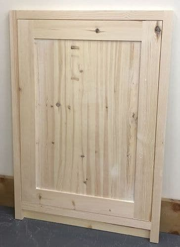 Pine Traditional Style Kitchen Integrated Dishwasher Door 450mm wide