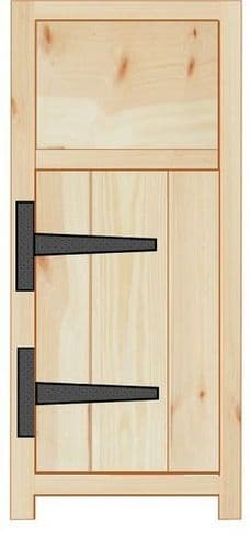 Rustic Farmhouse 300mm Base Cabinet with door and drawer