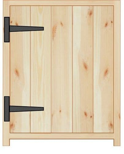 Rustic Farmhouse 500mm Base Cabinet with door