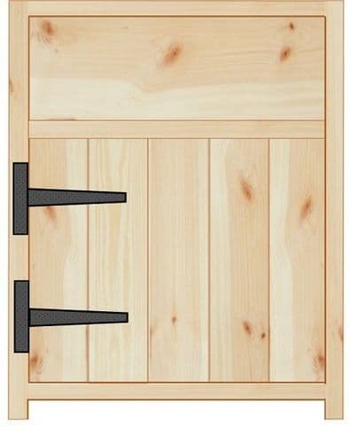 Rustic Farmhouse 600mm Base Cabinet with door and drawer