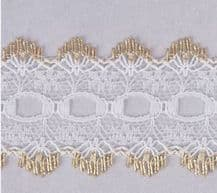 Essentials Knit In Lace 30mm Gold