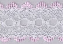 Essentials Knit In Lace 30mm Pink