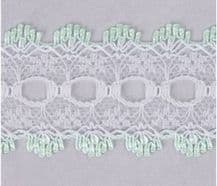 Essentials Knit In Lace 30mm Pistachio Green