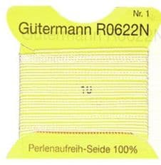 Gutermann Threading Silk Undyed Pearl 2m