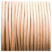 Leather Thonging 30m x 3mm Natural
