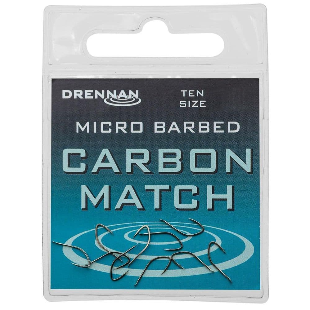 Drennan Carbon Match Hooks Size 22 Micro Barbed