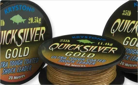 Kryston - QuickSilver Gold 35lb - Ultra Tough Coated Shock Leader