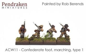 <n>ACW11 </n>Confederate foot, marching, type 1