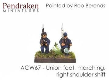 <n>ACW67 </n>Union foot, marching, right shoulder shift