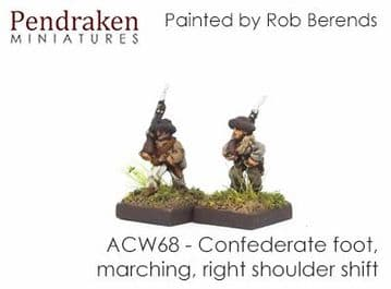 <n>ACW68 </n>Confederate foot, marching, right shoulder shift