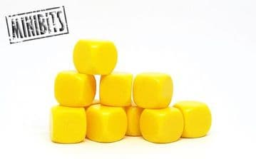 <n>D-BLy </n>Yellow blank dice