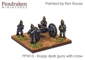 <n>PPW15 </n>Krupp C64 4pdr RBL with crew (3)