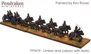 <n>PPW19 </n>Caisson and limber with team/out riders (1)