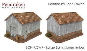 <n>SCN-ACW7 </n>Large barn, stone/timber