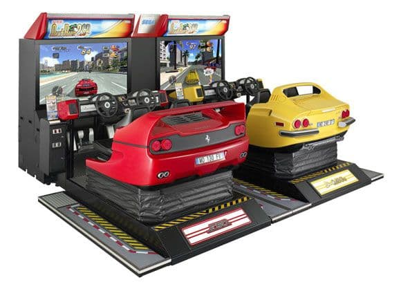 Out Run 2 SP Special Edition Deluxe 2 Car Arcade Machine Driving Game