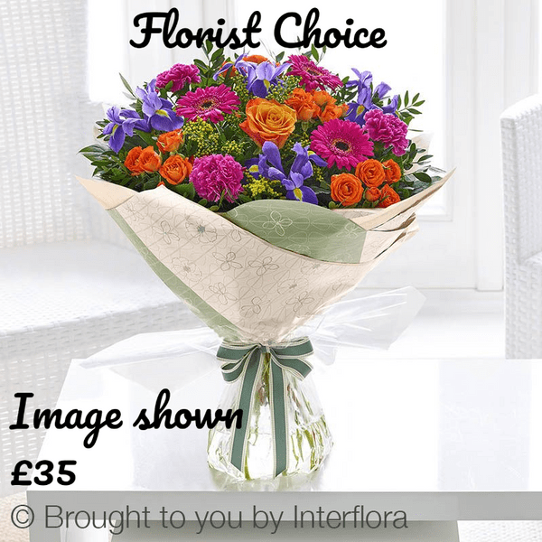 Florist Choice Hand tied  - Vibrant from