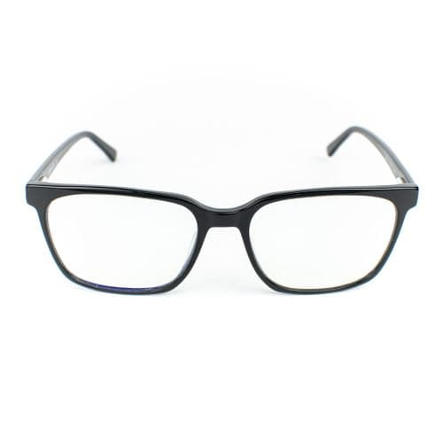 Bay - A timeless and bold design, these carefully crafted acetate frames come in black. Lazula Lux are specialists in high end carefully crafted, luxury eco friendly blue light blocking glasses. Our lenses are of high quality  with anti-scratch coating. Lazula Lux eyewear protects your eyes from excessive blue light rays which are linked to digital eye strain, dry eyes, headaches, migraines, insomnia and other sleep problems. In addition our glasses carry sunglasses level UV-protection so are perfect outdoor wear and are super stylish. All materials used in our frames and packaging is eco-friendly and we donate 10% of profits from each sale to the Big Blue Ocean Cleanup charity which works tirelessly to clear plastic pollution from our beaches and oceans.