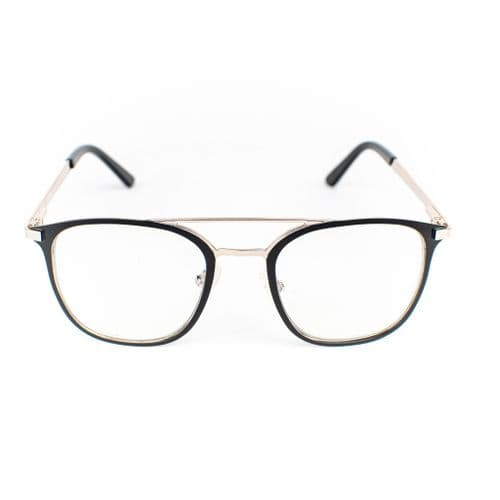 Tao - A retro, vintage statement design. These carefully crafted metal frames are silver and black. Lazula Lux are specialists in high end carefully crafted, luxury eco friendly blue light blocking glasses. Our lenses are of high quality  with anti-scratch coating. Lazula Lux eyewear protects your eyes from excessive blue light rays which are linked to digital eye strain, dry eyes, headaches, migraines, insomnia and other sleep problems. In addition our glasses carry sunglasses level UV-protection so are perfect outdoor wear and are super stylish. All materials used in our frames and packaging is eco-friendly and we donate 10% of profits from each sale to the Big Blue Ocean Cleanup charity which works tirelessly to clear plastic pollution from our beaches and oceans.