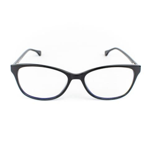 Zale - A timeless and bold design, these carefully crafted acetate frames come in black. Lazula Lux are specialists in high end carefully crafted, luxury eco friendly blue light blocking glasses. Our lenses are of high quality  with anti-scratch coating. Lazula Lux eyewear protects your eyes from excessive blue light rays which are linked to digital eye strain, dry eyes, headaches, migraines, insomnia and other sleep problems. In addition our glasses carry sunglasses level UV-protection so are perfect outdoor wear and are super stylish. All materials used in our frames and packaging is eco-friendly and we donate 10% of profits from each sale to the Big Blue Ocean Cleanup charity which works tirelessly to clear plastic pollution from our beaches and oceans.