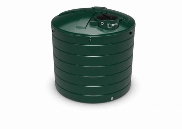 6000 Litre Circular Heating Oil Tank - Plastic Bunded